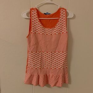 Antonio Melani Orange Printed Blouse Size Small